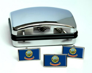 Idaho  Flag Cufflink and Tie Pin Set
