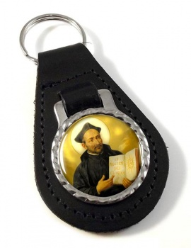 St. Ignatius of Loyola Leather Keyfob