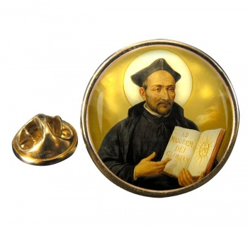 St. Ignatius of Loyola Round Pin Badge