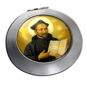St. Ignatius of Loyola Chrome Mirror