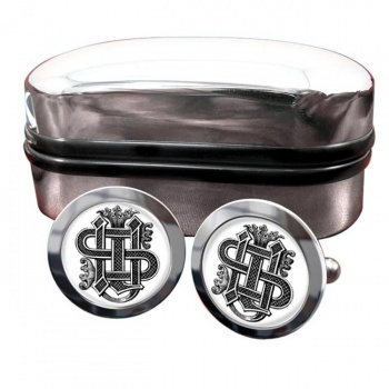 Christogram Entwined Round Cufflinks