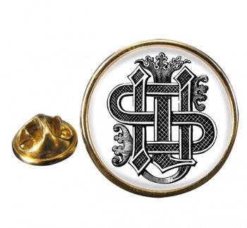 Christogram Entwined Round Pin Badge