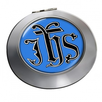 Christogram IHS Gothic Chrome Mirror