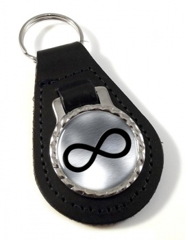 Infinity Symbol Metallic Leather Key Fob