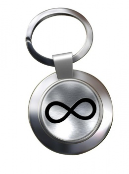Infinity Symbol Metallic Chrome Key Ring