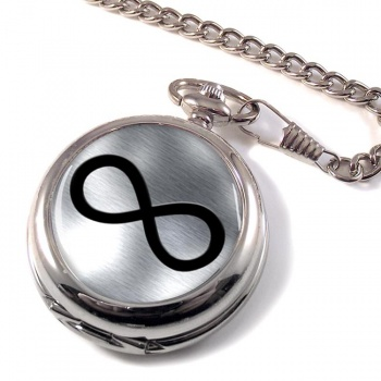 Infinity Symbol Metallic Pocket Watch