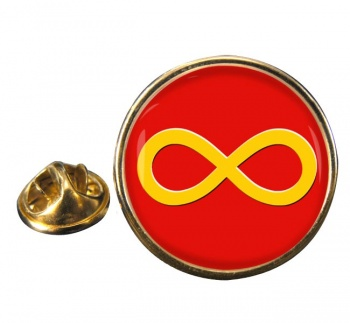 Infinity Symbol Yellow Round Pin Badge
