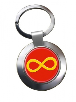Infinity Symbol Yellow Chrome Key Ring