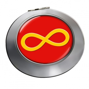 Infinity Symbol Yellow Chrome Mirror