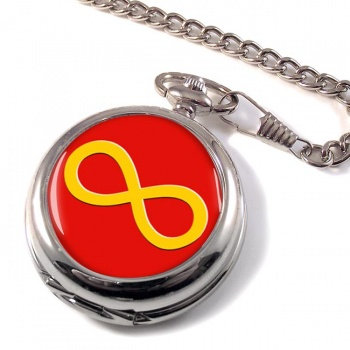 Infinity Symbol Yellow Pocket Watch