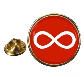 Infinity Round Pin Badge