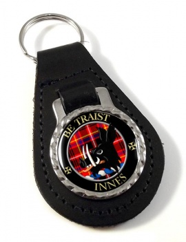 Innes Scottish Clan Leather Key Fob