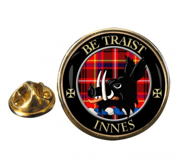 Innes Scottish Clan Round Pin Badge