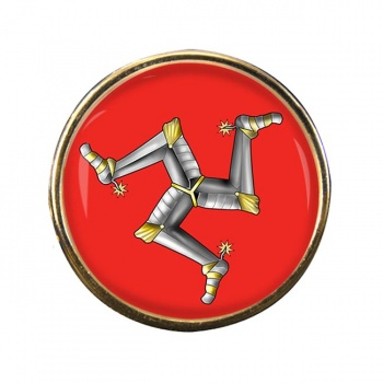 Isle of Man Round Pin Badge