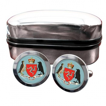 Isle of Man Coat of Arms Crest Cufflinks