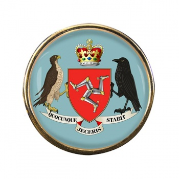 Isle of Man Coat of Arms Round Pin Badge