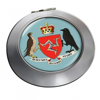 Isle of Man Coat of Arms Round Mirror