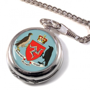 Isle of Man Coat of Arms Pocket Watch