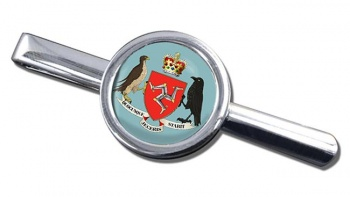 Isle of Man Coat of Arms Round Tie Clip