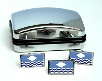 Isle of Wight (England) Flag Cufflink and Tie Pin Set