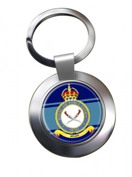 RAF Station Iraq Levies Chrome Key Ring