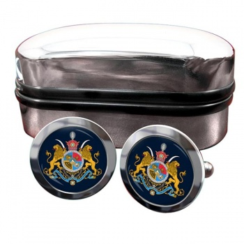 Imperial Coat of Arms Iran Crest Cufflinks