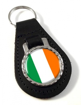 Ireland Eire Leather Key Fob