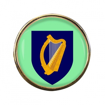 Coat of arms of Ireland Round Pin Badge