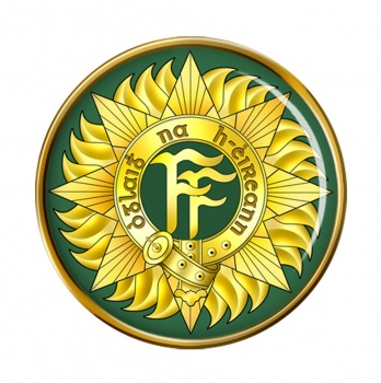 Irish Defence Forces Round Pin Badge