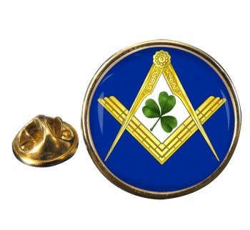 Irish Masons Masonic Round Pin Badge