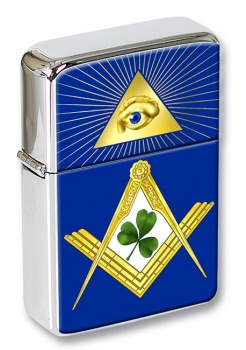 Irish Masons Masonic Flip Top Lighter