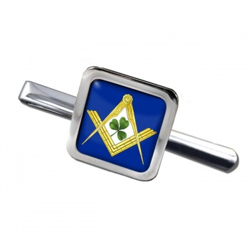 Irish Masons Masonic Square Tie Clip