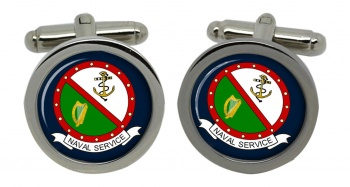 Irish Naval Service Round Cufflinks