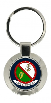 Irish Naval Service Chrome Key Ring