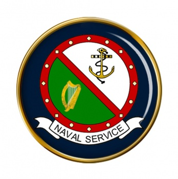 Irish Naval Service Round Pin Badge
