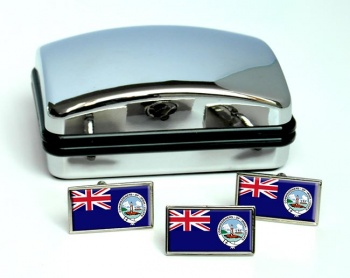 Irish Lights Ensign Rectangle Cufflink and Tie Pin Set