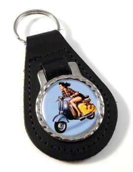 Iso Scooter Leather Keyfob