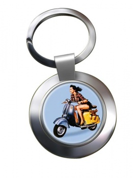 Iso Scooter Chrome Key Ring