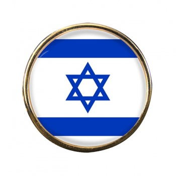 Israel Round Pin Badge