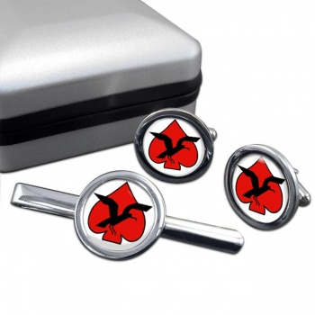 133 Squadron IAF Round Cufflink and Tie Clip Set