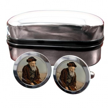An Israelite of Jerusalem Round Cufflinks