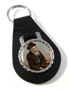 An Israelite of Jerusalem Leather Key Fob