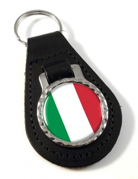 Italy Italia Leather Key Fob