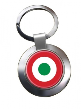 Italian Air Force (Aeronautica Militare) Roundel Chrome Key Ring