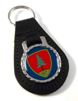 Brigata Meccanizata Pinerolo (Italian Army) Leather Key Fob