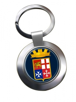 Italian Navy (Marina Militare) Chrome Key Ring