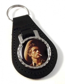 James Dean Leather Key Fob