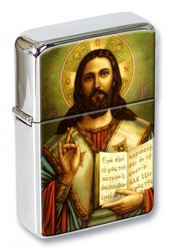 Jesus Alpha Omega Flip Top Lighter
