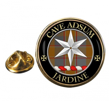 Jardine Scottish Clan Round Pin Badge