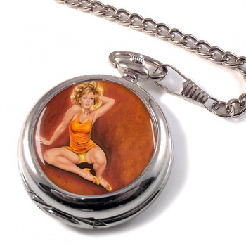Jeanette Pin-up Girl Pocket Watch